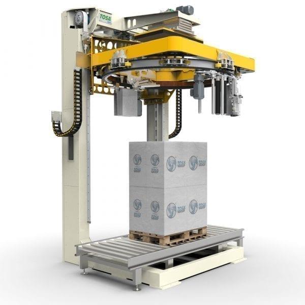 Sträckfilmsmaskin med rotationsring